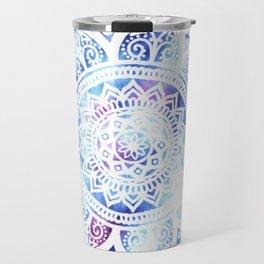 Purple and Blue Tied-Dye Mandala - LaurensColour Travel Mug