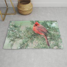 Christmas Bird (Northern Cardinal) Rug