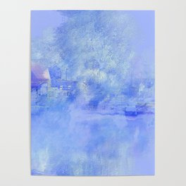 Hometown Celle in blue Poster