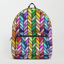 Rainbow Cathedral Window Backpack
