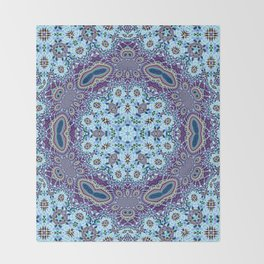 Modern Traditional Lacey Mandala Throw Blanket