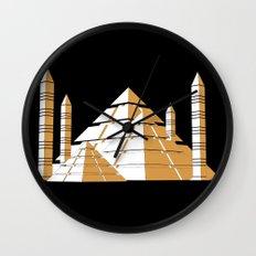 Pyramids Wall Clock