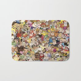 Cartoon Collage Bath Mat