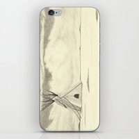 plain iPhone & iPod Skins featuring Lonely Plain by Ursula Rodgers