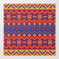 native Canvas Prints featuring Native by Arcturus