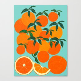 Orange Harvest - Blue Canvas Print