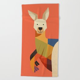 Kangaroo Beach Towel