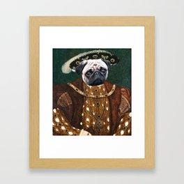Portrait of King Pugsley VIII Framed Art Print