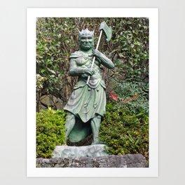 bronze japanese axe demon Art Print