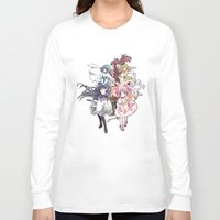 madoka magica Long Sleeve T-shirts featuring Puella Magi Madoka Magica - Only You by Yue Graphic Design