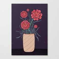 Red Carnations Canvas Print