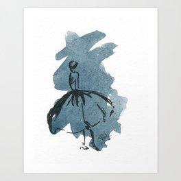 Retro Chic Runway Dress 2 Feminine Fashion Illustrations Art Print