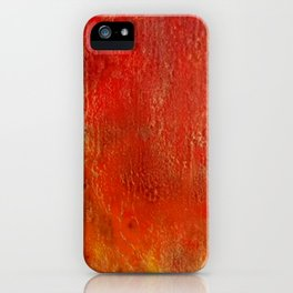 Fall Fire - Encaustic Painting (red, yellow, gold) iPhone Case