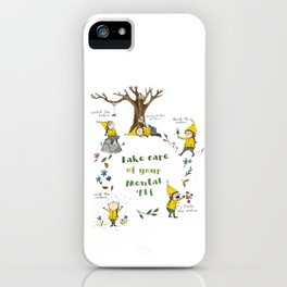 Take Care of your Mental 'Elf - nature illustration iPhone Case