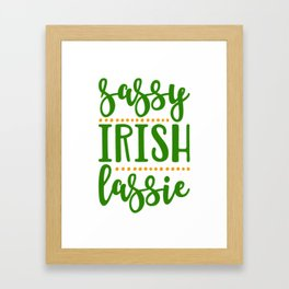 Sassy Irish Lassie St Patricks Day Ireland Woman Framed Art Print