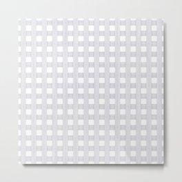 Light Grey Wood Lattice Metal Print