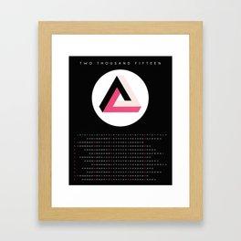 2015 Minimalist Calendar Optical Illusion: Dark Triangle Framed Art Print