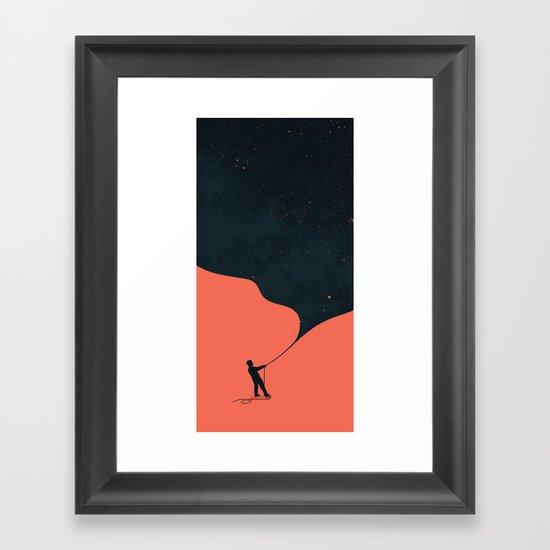 Night fills up the sky Framed Art Print