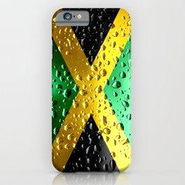 Flag of Jamaica - Raindrops iPhone Case