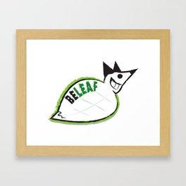 Beleaf Fox Framed Art Print