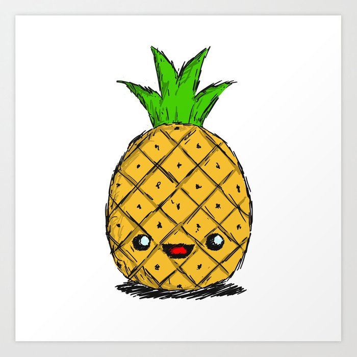 Cute Pineapple Art Print by thebigduo | Society6