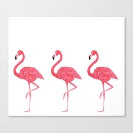 Flamingo tropical dance Canvas Print