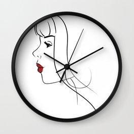 Minimalist Feminine Beauty Wall Clock