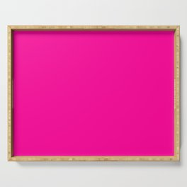 Neon Pink Solid Colour Serving Tray