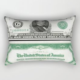A Series 1928 Grover Cleveland $1,000 Federal Reserve Bank Note Rectangular Pillow