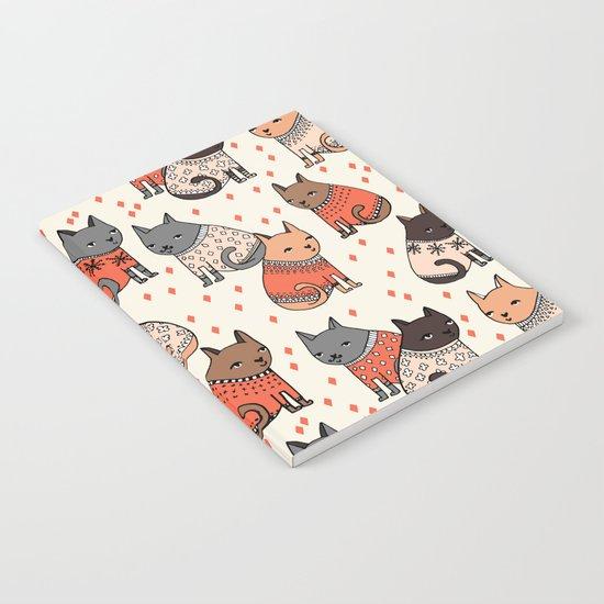 Sweater Cats - by Andrea Lauren Notebook
