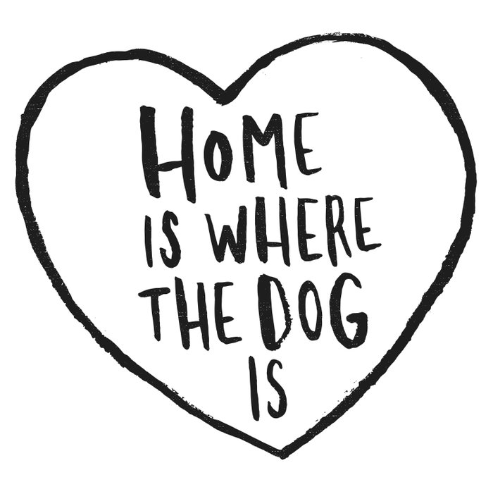 Home Is Where The Dog Is Duvet Cover