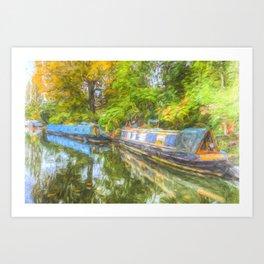 Narrow Boat Serenity Art Print