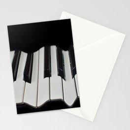 Warped Piano Keys Stationery Cards