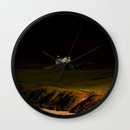 House on the Cliff Wall Clock