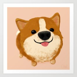 Corgi [boop the snoot!] Art Print