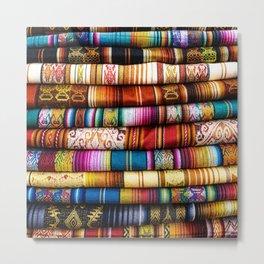Colorful Fabric in Ecuador Metal Print