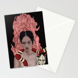In the Death of the Grip of the Mask Stationery Cards