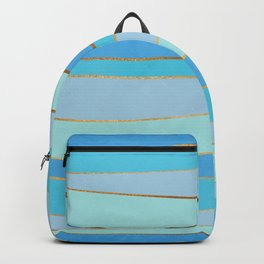 Waves Pattern - Golden Glitter Backpack