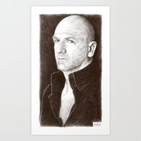 will graham Art Prints featuring Graham McTavish by Alessia Pelonzi