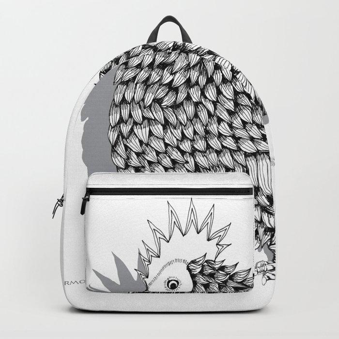 Zentangle  Funky Chicken Illustration Backpack