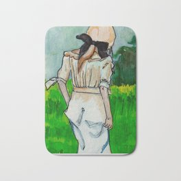 Girl in the Grass II Bath Mat