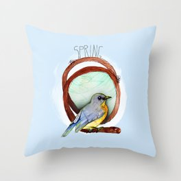 Spring birdy / Nr. 2 Throw Pillow