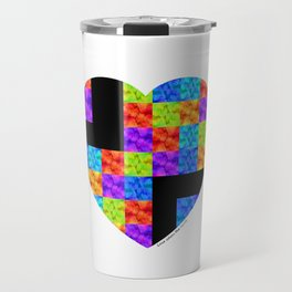 Love Colors The Heart by Sharon Cummings Travel Mug