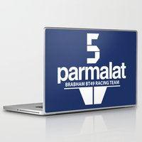 f1 Laptop & iPad Skins featuring Brabham F1 Racing Team BT49 by Krakenspirit