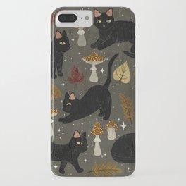 autumn cat magic iPhone Case