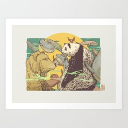 The Bidding Art Print