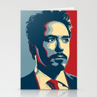 tony stark Stationery Cards featuring Tony Stark by Cadies Graphic