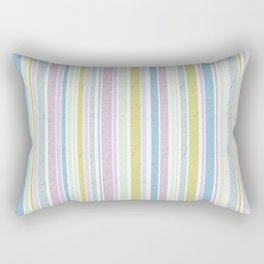 Multicoloured striped pattern in pastel shades Rectangular Pillow