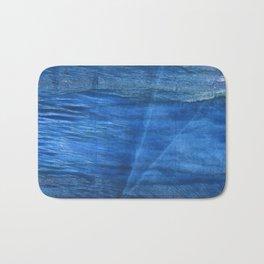 Lapis lazuli abstract watercolor Bath Mat