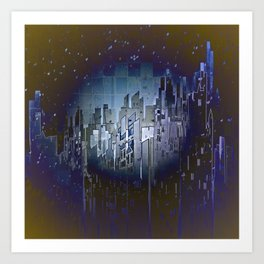Walls in the Night - UFOs in the Sky Art Print